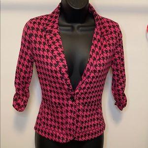 XS American Rag Stretch Pink & Black Blazer - E23